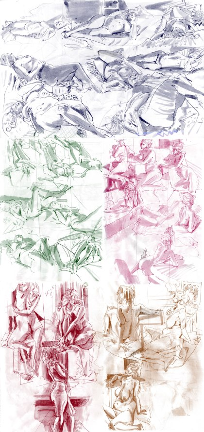 life drawing april-may 2018